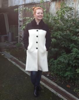 ella boo 2 tone coat